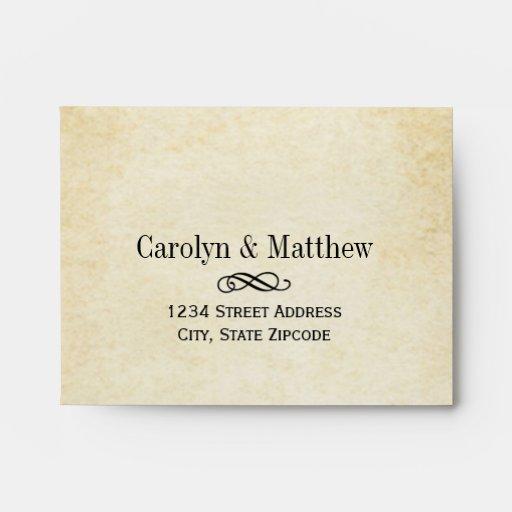 Wedding RSVP Envelopes   Vintage Style