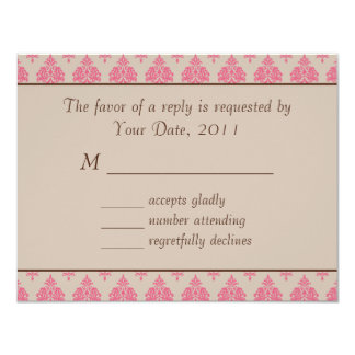 """Wedding RSVP Horse and Carriage Invitation 4.25"""" X 5.5"""" Invitation Card"""
