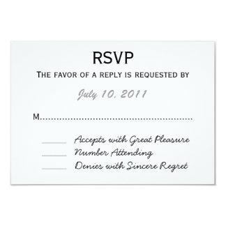 Wedding RSVP 3.5x5 Paper Invitation Card