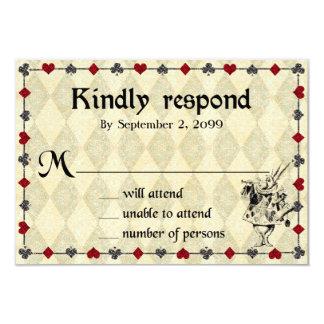 Wedding RSVP Kindly Respond,Alice in Wonderland Card