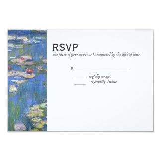 Wedding RSVP // Monet Waterlilies 3.5x5 Paper Invitation Card