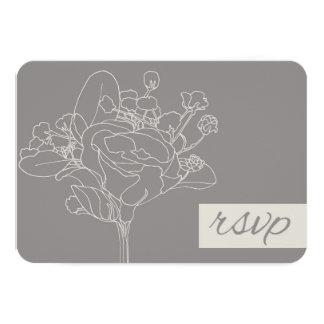 Wedding RSVP (Natural) 9cm X 13cm Invitation Card