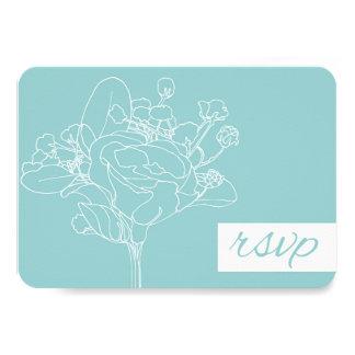 "Wedding RSVP (Ocean Green) 3.5"" X 5"" Invitation Card"