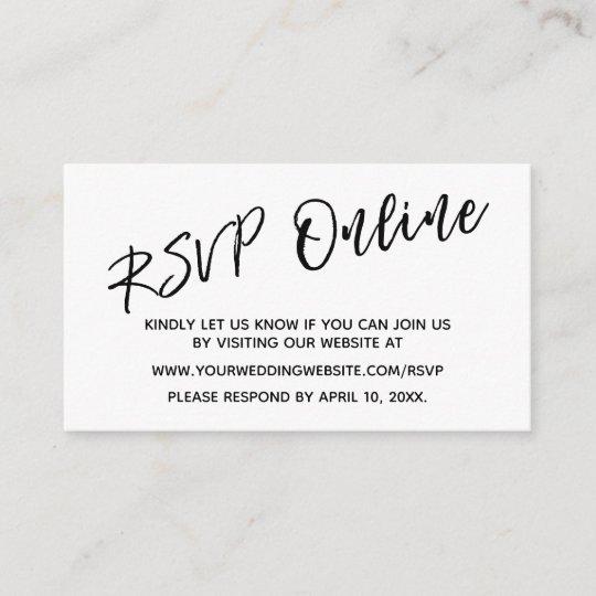 Wedding Rsvp Website.Wedding Rsvp Online Casual Handwriting Insert Card