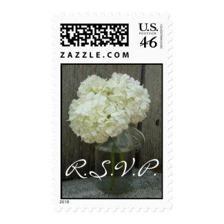 Wedding RSVP Postage - Hydrangeas In A Jar stamp