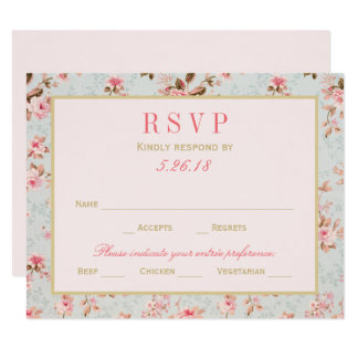 Wedding RSVP Postcards | Vintage Garden Party
