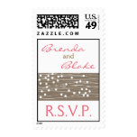 Wedding RSVP stamp - Organic Dots and Lines