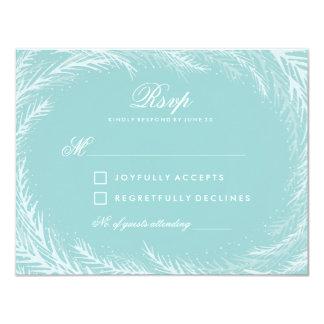 Wedding RSVP // Winter Wonderland Card