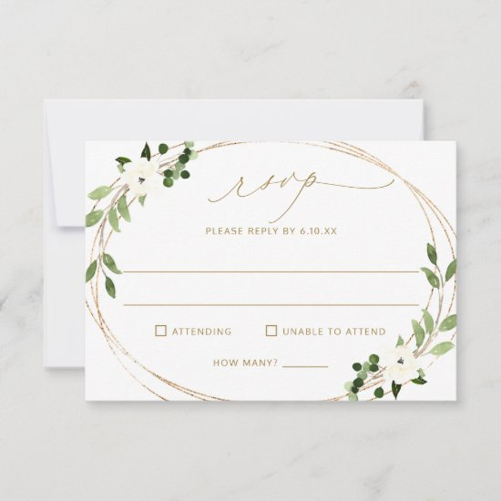 Wedding RSVP with Meal Choice & Favorite Song Back
