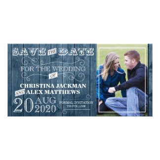 Wedding Rustic Vintage Save The Date Photo Card
