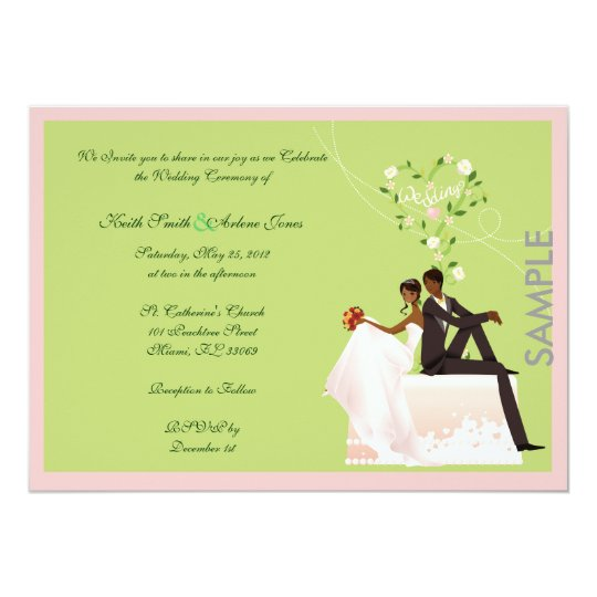 Wedding sample invitation zazzle wedding sample invitation stopboris Images