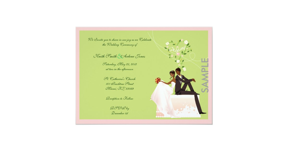 Wedding SAMPLE invitation | Zazzle.com