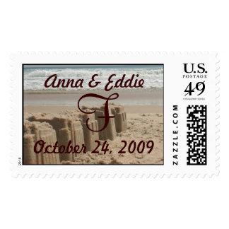 Wedding Sandcastles Postage