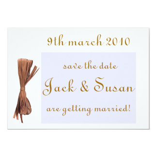 wedding save the date 5x7 paper invitation card