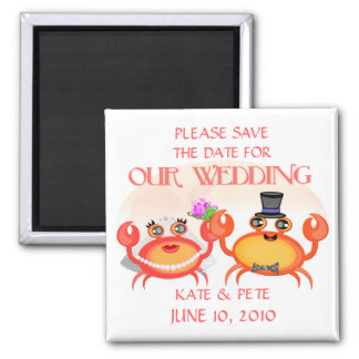 Wedding / Save The Date Announcement 2 Inch Square Magnet
