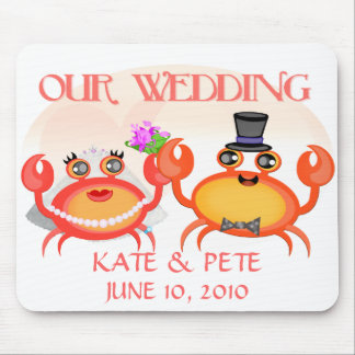 Wedding Save The Date Announcement Mouse Pads