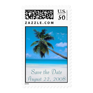 Wedding Save the Date Beach White Sand Postage