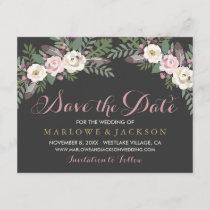Wedding Save the Date Card | Fall Vintage Boho