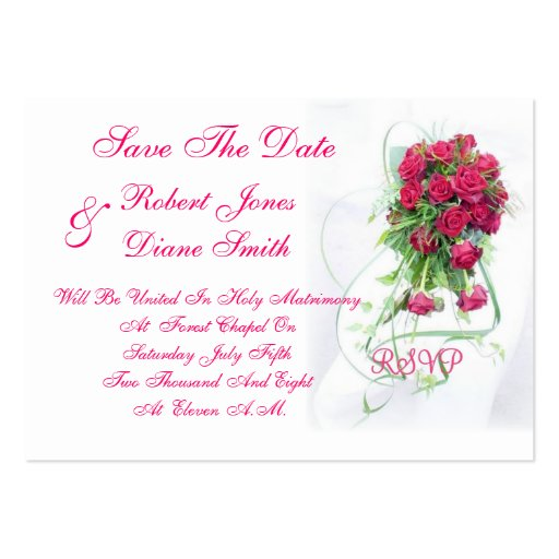 Wedding Save The Date Card Large Business Cards (Pack Of 100)