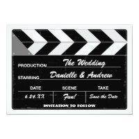 Wedding Save the Date Card | Movie Clap Board (<em>$2.01</em>)