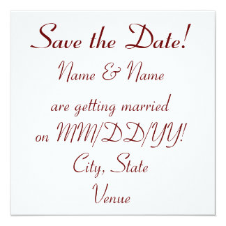 Wedding Save the Date card - personalize info