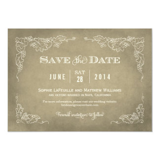 Wedding Save the Date Card | Vintage Wine