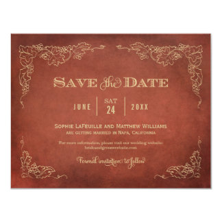 Wedding Save the Date Card | Vintage Wine