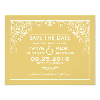 Wedding Save the Date Cards   Art Deco Style