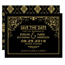Wedding Save the Date Cards | Art Deco Style