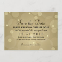 Wedding Save the Date | Champagne Gold