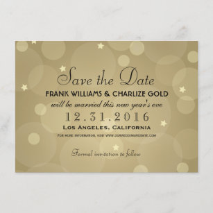 Wedding Save The Date Champagne Gold
