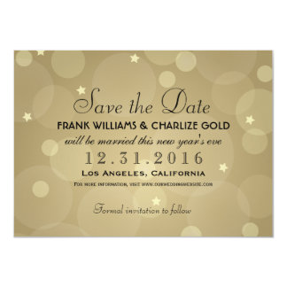 Wedding Save the Date | Champagne Gold 4.5x6.25 Paper Invitation Card