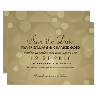 Wedding Save The Date Champagne Gold Card
