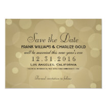 Wedding Save the Date | Champagne Gold Card