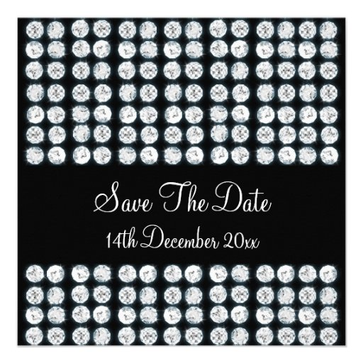 Wedding Save The Date Diamonds Personalized Announcements