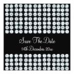"Wedding Save The Date Diamonds 5.25"" Square Invitation Card"
