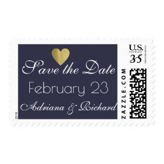 wedding save the date elegant blue postage