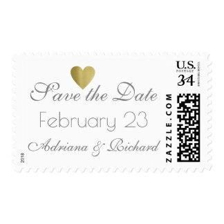 wedding save the date elegant postage