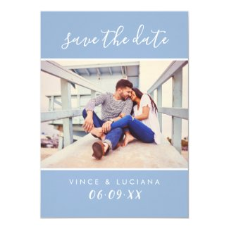Wedding Save the Date   Hand Lettered Script Card