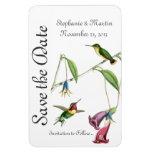 Wedding Save the Date Hummingbirds Bird Flowers Rectangular Photo Magnet
