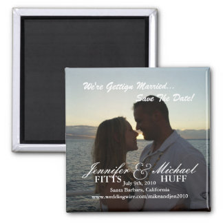 Wedding Save the Date Refrigerator Magnet