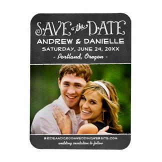 Wedding Save the Date Magnet | Black Chalkboard