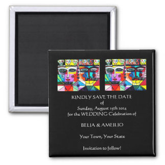 Wedding 'Save The Date' Magnet - Day Of The Dead