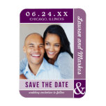 Wedding Save the Date Magnet   Modern Colorblock