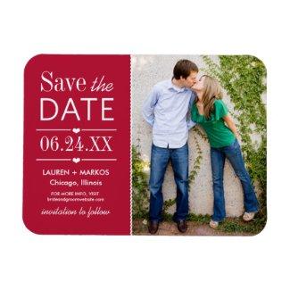 Wedding Save the Date Magnet | Modern Love