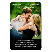 Wedding Save the Date Magnet | Movie Poster Design
