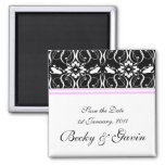 Wedding Save the Date Magnet Victorian Damask