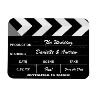 Wedding Save the Date Magnets   Movie Clap Board