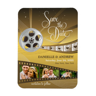 Wedding Save the Date Magnets | Movie Reel