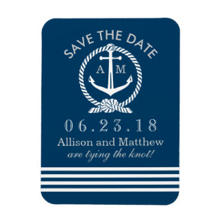 Nautical Save The Date Refrigerator Magnets | Zazzle
